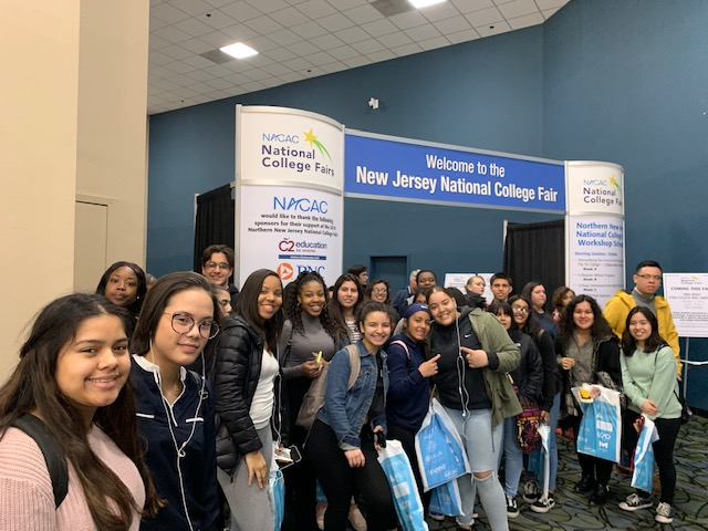 HHS Guidance Dept Brought 40 Juniors to the NJ National College Fair at the Meadowlands Expo Center